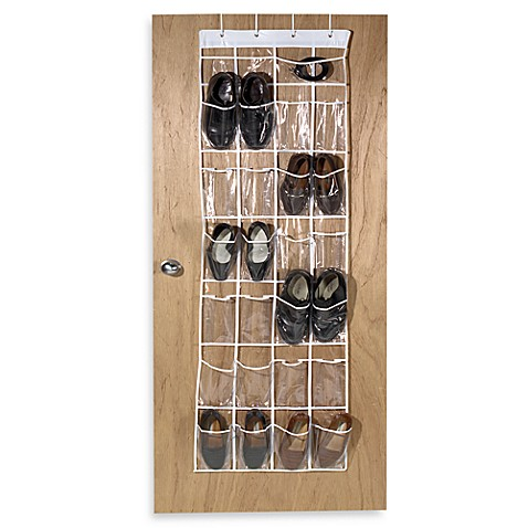 Wonderful Crystal Clear 24 Pocket Over The Door Vinyl Shoe Organizer
