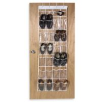 Crystal Clear 24 Pocket Over-The-Door Vinyl Shoe Organizer