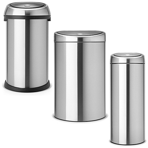 brabantia touch bin in brushed stainless steel. Black Bedroom Furniture Sets. Home Design Ideas