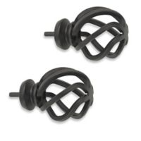 Cambria® Premier Complete Birdcage Finial in Matte Brown (Set of 2)