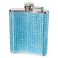 Oggi™ Glitz Flask in Blue with Filling Funnel