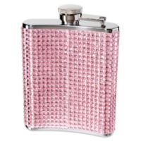 Oggi™ Stainless Steel Glitz 6-Ounce Hip Flask with Filling Funnel in Pink