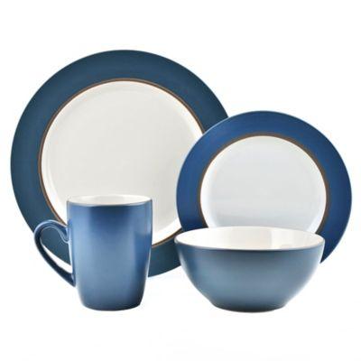 Thomson Pottery 16-Piece Kensington Stoneware Dinner Set  sc 1 st  Bed Bath u0026 Beyond & Buy Blue Stoneware Dinnerware Sets from Bed Bath u0026 Beyond