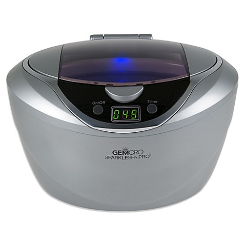 Gemoro Sparkle Spa Ultrasonic Jewelry Cleaner In Grey