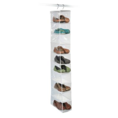 closetware clear 10pocket shoe organizer