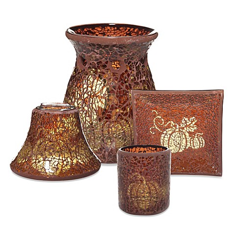 Yankee candle shimmering pumpkin mosaic candle for Yankees bathroom decor