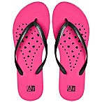 Women's Medium Heart AquaFlops Shower Shoes in Pink