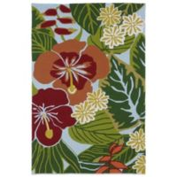 Kaleen Matira Tropical 3-Foot x 5-Foot Indoor/Outdoor Rug in Blue Floral