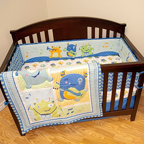 Baby S First By Nemcor Monster Party Crib Bedding