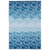 Kaleen Matira Shell 7-Foot 6-Inch x 8-Foot Indoor/Outdoor Rug in Blue