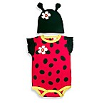 Sozo® Size 3-6M Ladybug Bodysuit and Cap Set in Red/Black