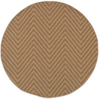 Oriental Weavers Karavia 7-Foot 10-Inch Round Chevron Rug in Brown