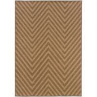 Oriental Weavers Karavia 7-Foot 10-Inch x 10-Foot 10-Inch Chevron Rug in Brown