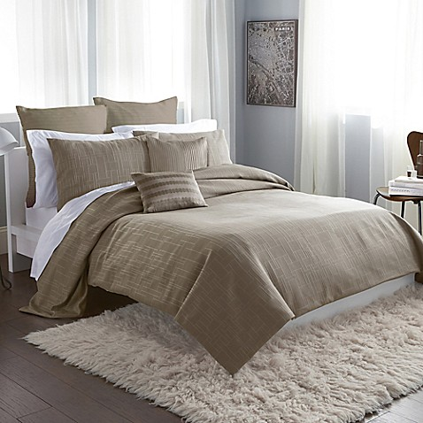 Dkny City Line Duvet Cover In Taupe Bed Bath Amp Beyond