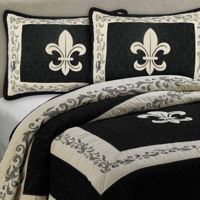 Donna sharp fleur de lis scroll bedding collection bed bath beyond - Fleur de lis bed sheets ...