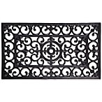 Scroll Motif Recycled Rubber Door Mat