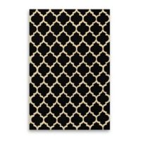 Dimensions 2-Foot x 3-Foot Hook Rug in Black