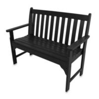 POLYWOOD® Vineyard Bench in Black
