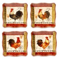 Certified International Tuscan Rooster 10.25-Inch Dinner Plate (Set of 4)