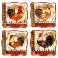 Certified International Tuscan Rooster 8.5-Inch Dessert Plate (Set of 4)