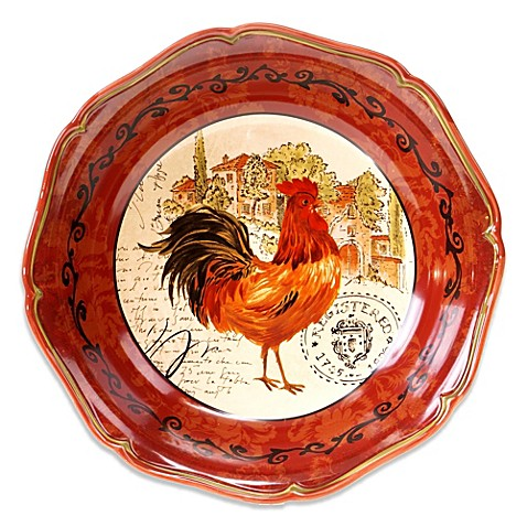 Certified International Tuscan Rooster Pasta/Serving Bowl - Bed Bath ...