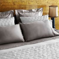 Frette At Home Tiber Standard Pillowcase in Stone