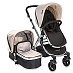 babyroues letour II Bassinet and Stroller Frosted Silver Frame System in Tan