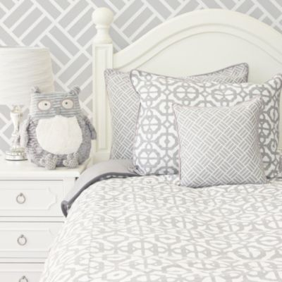Caden Lane Mod Lattice Twin Duvet Cover In Grey