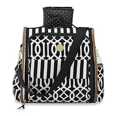 mud pie bundle of joy diaper bag in black bed bath beyond. Black Bedroom Furniture Sets. Home Design Ideas