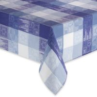 Sam Hedaya Hanukkah Holiday 52-Inch x 70-Inch Oblong Tablecloth