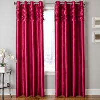 Softlines Emily 84-Inch Grommet Window Curtain Panel in Fuschia