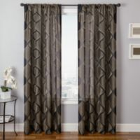 Softlines Mellow Marlowe 84-Inch Window Curtain Panel in Black