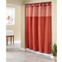 HooklessR Waffle 71 Inch X 86 Long Fabric Shower Curtain In Brick