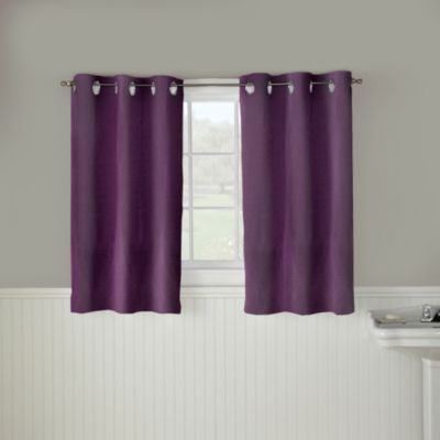 Hookless® Waffle 45 Inch Window Curtain In Purple