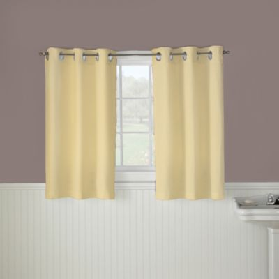 HooklessR Waffle 45 Inch Window Curtain In Yellow