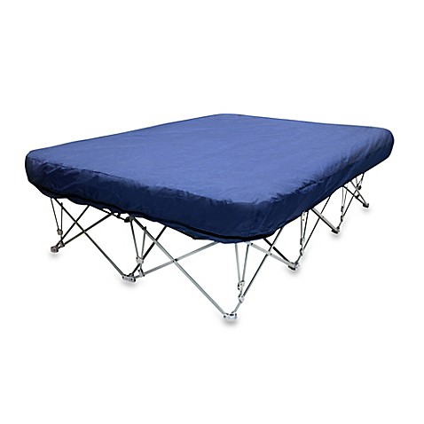 inflatable bed with foldable frame
