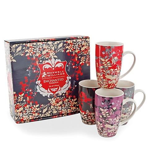 Maxwell Amp Williams 14 Oz Enchanted Garden Mugs Set Of 4