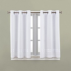 Bathroom Curtains hookless® escape 45-inch bath window curtain panels - bed bath