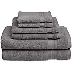 Welspun HygroSoft 6-Piece Towel Set in Pewter