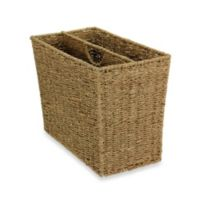Household Essentials® Side-by-Side Seagrass Magazine Rack