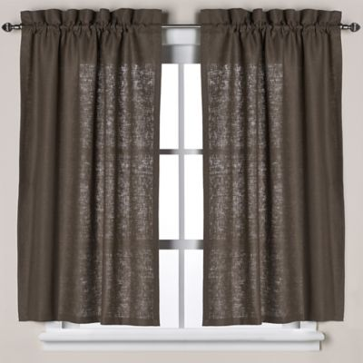 Curtains Ideas brown linen curtains : Buy Brown Bath Window Curtains from Bed Bath & Beyond