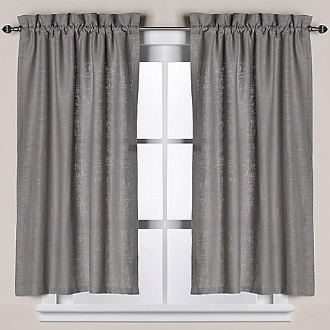 buy soho linen bath window curtain tier pair in grey from