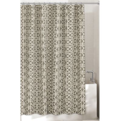 Lattice 72 Inch X 96 Inch Shower Curtain In Grey