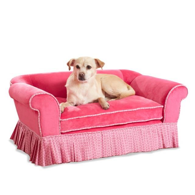 enchanted home pet savannah pet sofa bed in pink