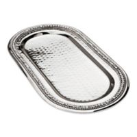 Classic Touch Stainless Steel Oval Tray