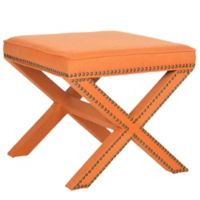 Safavieh Palmer Ottoman in Orange