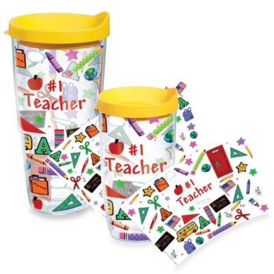 Tervis® #1 Teacher Wrap Tumbler with Yellow Lid