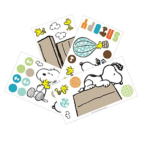 Lambs amp ivy 174 bff snoopy wall appliques www buybuybaby com