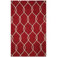 Momeni Bliss 3-Foot 6-Inch x 5-Foot 6-Inch Rug in Red Circles