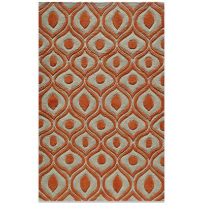 buy orange accent rug from bed bath & beyond